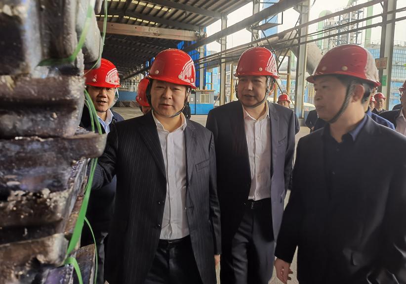 刘志仁书记莅临金贵银业调研复工复产工作